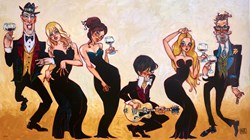 Outlaws by Todd White - Hand Finished Limited Edition on Canvas sized 40x22 inches. Available from Whitewall Galleries